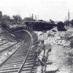 voie ferrée détruite