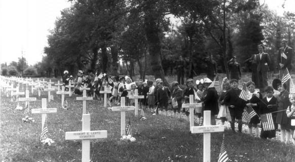 Cimetière militaire provisoire 1944 Sainte Mère Eglise