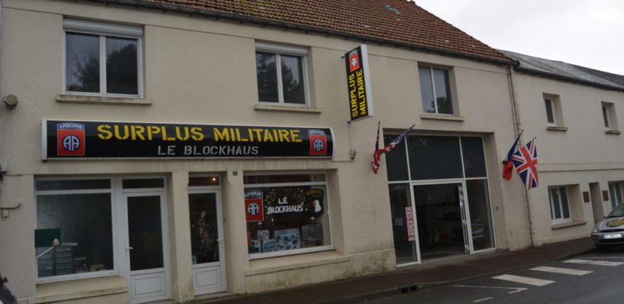 surplus militaire militaria boutique blockhaus sainte mere eglise baie cotentin