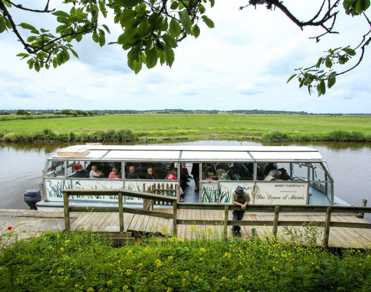 promenade fluviale marais barbey aurevilly douve baie cotentin