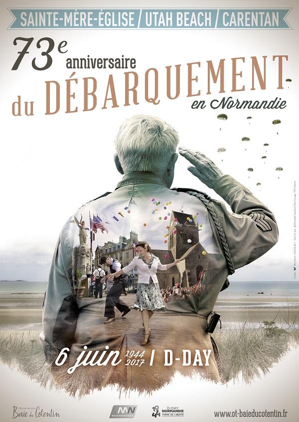 AFFICHE 73e anniversaire du Débarquement en Normandie ©Bleu-Nacré