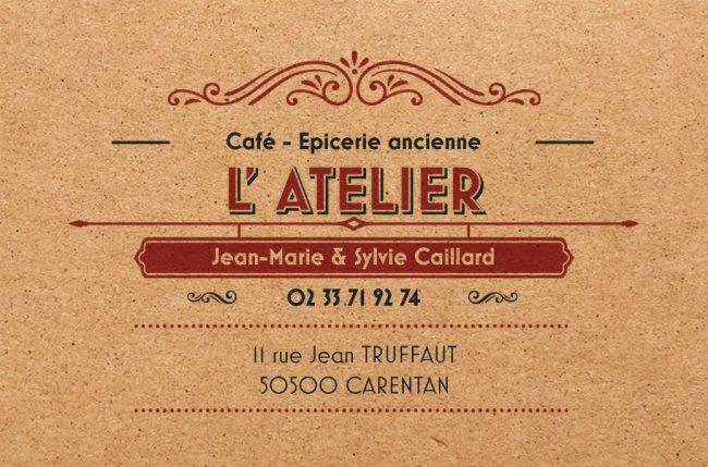 Carte visite_L'Atelier-café épicerie_Carentan2017©Caillard Jean-Marie