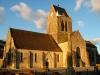 Eglise de Sainte Mère Eglise et la borne romaine