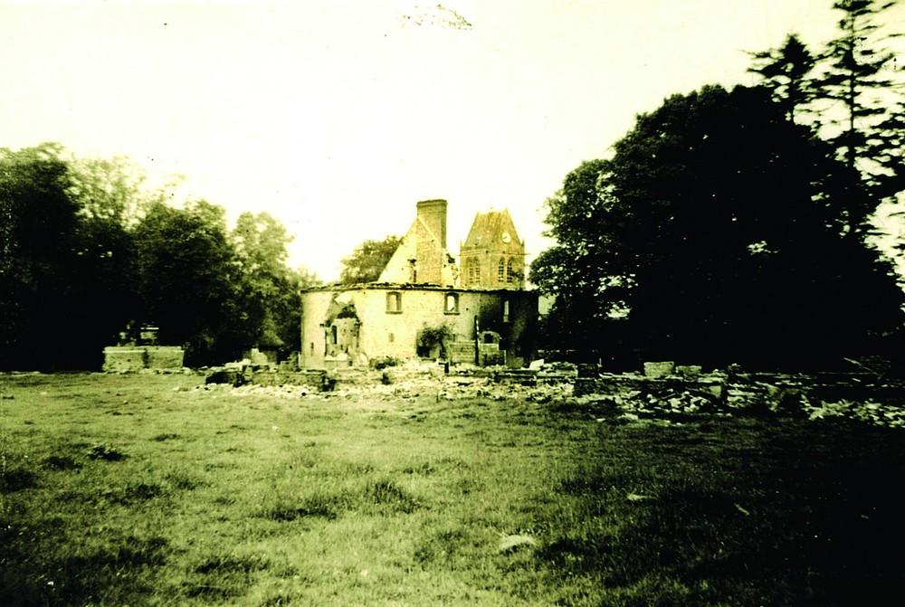 Incendie Maison Mlle Pommier Sainte Mère Eglise pompe