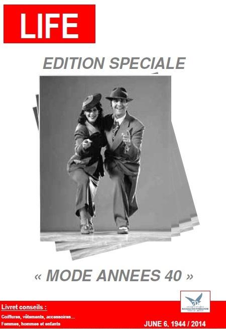Page de couverture livret tenue d'époque années 40