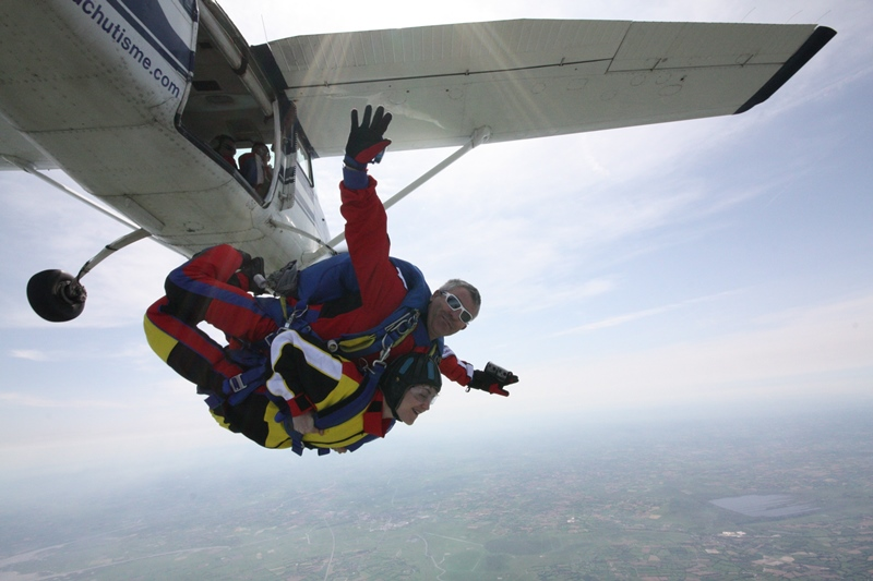 A2 parachutisme saut tandem
