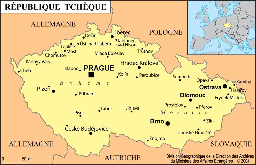 Carte-république-tchéque