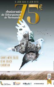 Office tourisme Baie du Cotentin affiche 75 anniversaire debarquement