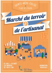 marche_terroir_artisanat_ete2020_sainte-mere-eglise©OT Baie du Cotentin